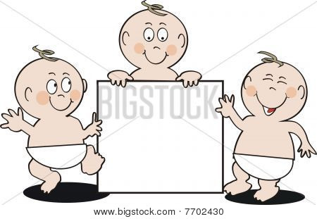 Smiling baby cartoon