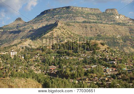 Town of Lalibela Ethiopia. UNESCO World Heritage Site.