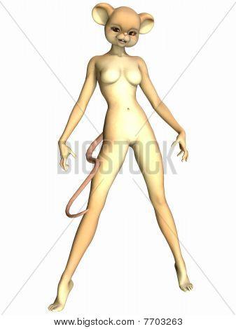 Toon linda figura - ratón