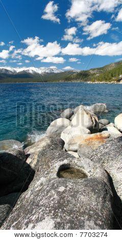 Lake Tahoe Shoreline Near Incline Village, Nevada.