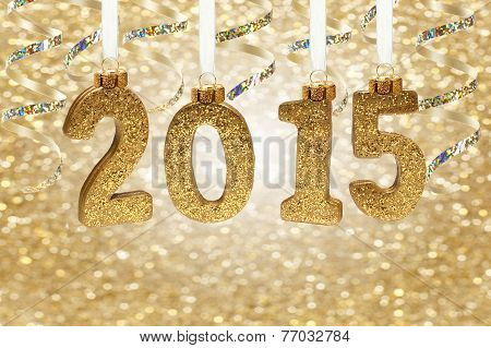 New Years Eve party 2015 hanging numbers