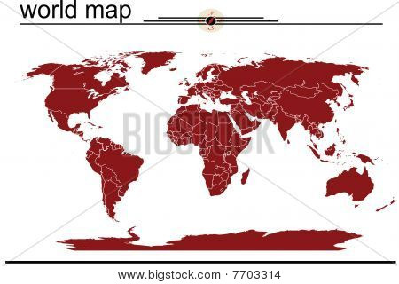 World Red Map