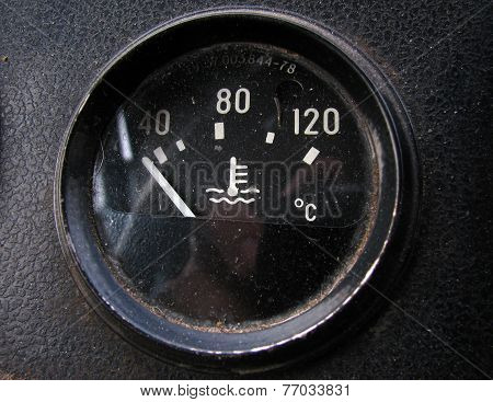 The temperature sensor in the old Russian truck