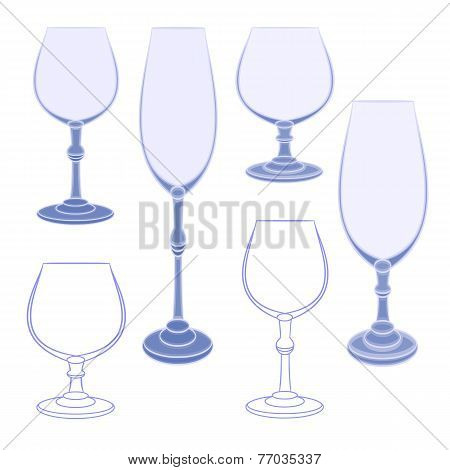 Champagne Wineglass Vector