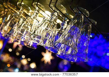 Nightclub empty glasses