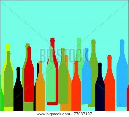 Bottle On Background