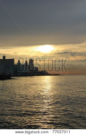 Havana Malecon at sunset