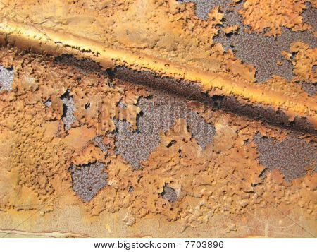 peeling de folha de metal
