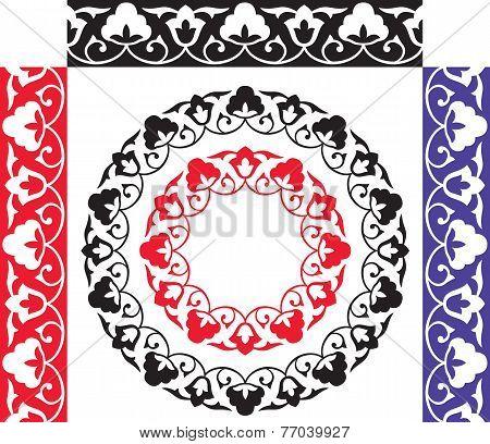 Seamless uzbek traditionall pattern