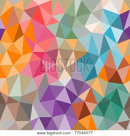 Bright Background Of Triangles Of Different Sizes.