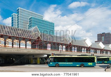 Modern Train And Bus Station Netherlands