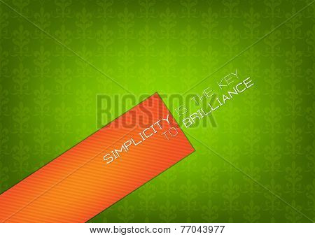 Green And Orange Background.