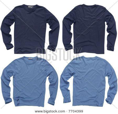 Blank Blue Long Sleeve Shirts