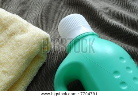 Towel and detergent
