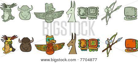 Symbols of America Continent