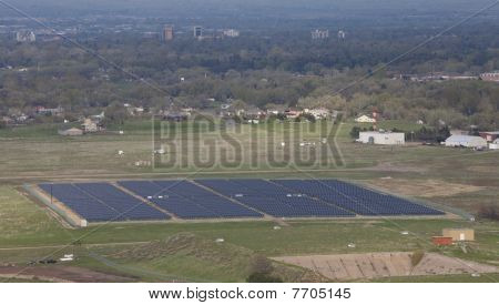 Solar Energy Farm Aerial View