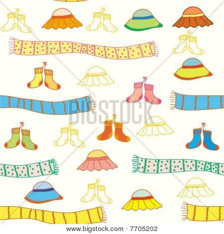 Baby clothes seamless pattern