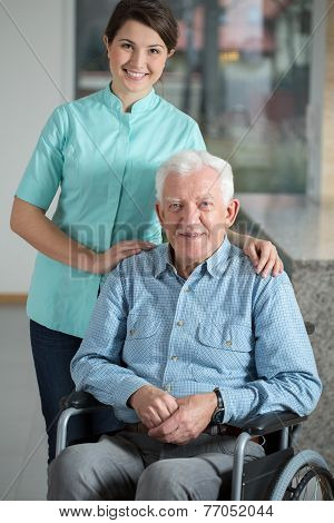 Elegant Man Using Wheelchair