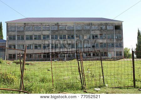 Destroyed building