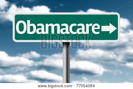 Obamacare creative green sign