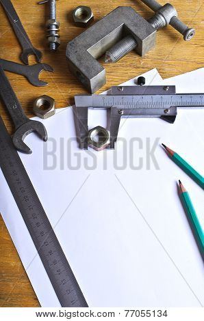 The Measuring Tool And White Sheets