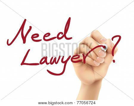 Need Lawyer Words Written By Hand