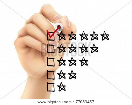 Voting Five Stars By Hand
