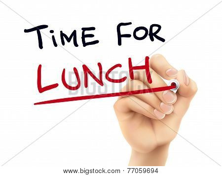 Time For Lunch Words Written By Hand