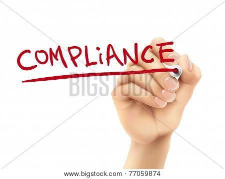 Compliance Word Written By Hand