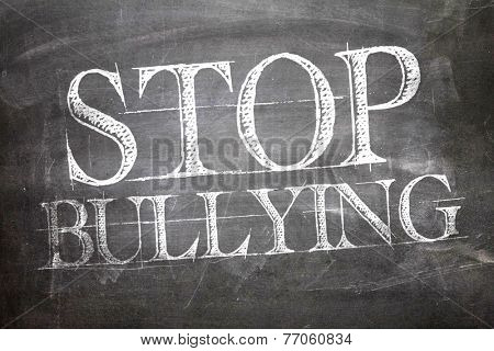 Stop Bullying written on blackboard
