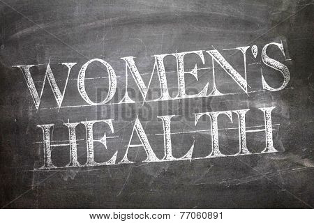 Women's Health written on blackboard