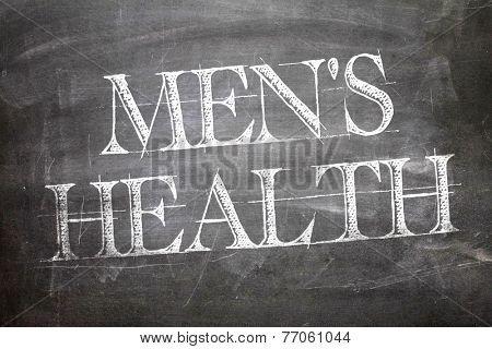 Mens Health written on blackboard