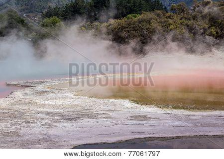 Champagne Pool In Waiotapu Thermal Reserve, Rotorua, New Zealand