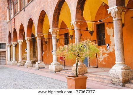 In The Courtyard Of The Palazzo Del Capitano, Piazza Dante, Verona, Italy