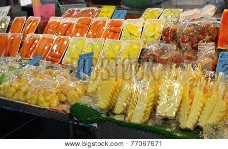 Fruit Night Market, Thailand, Krabi