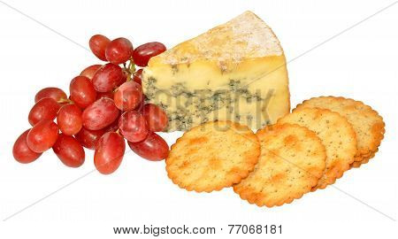 Red Grapes And Blue Stilton Cheese