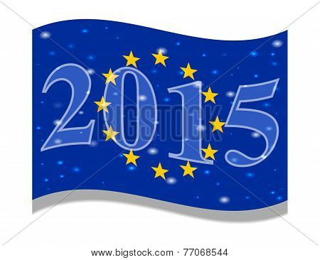 The main flag of the New Year 2015