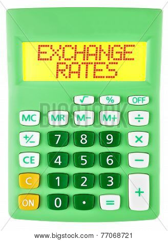 Calculator With Exchange Rates On Display