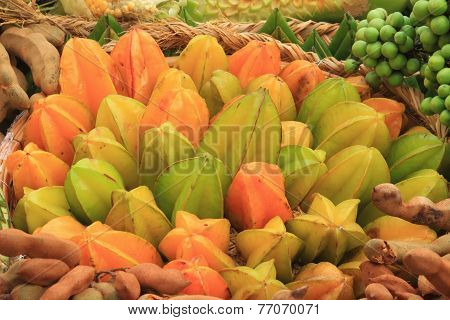 star fruit with tamarind and other vegetable
