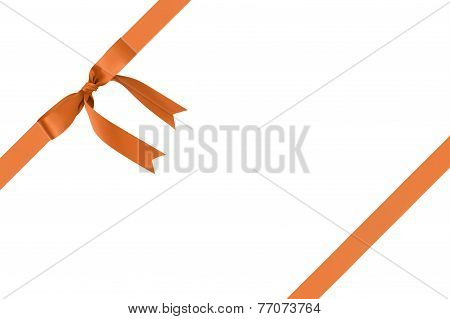 Composition For Packaging With Classic Orange Ribbon Bow