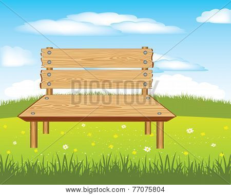Bench On Nature