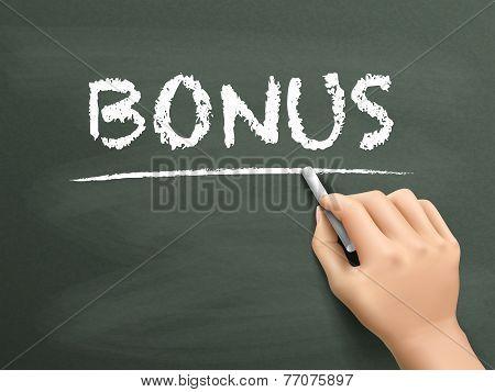 Bonus Word Written By Hand