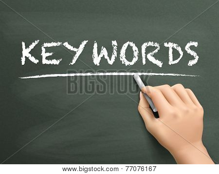 Keywords Word Written By Hand