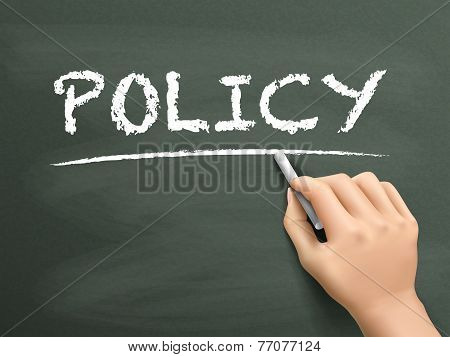 Policy Word Written By Hand
