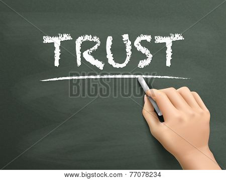 Trust Word Written By Hand