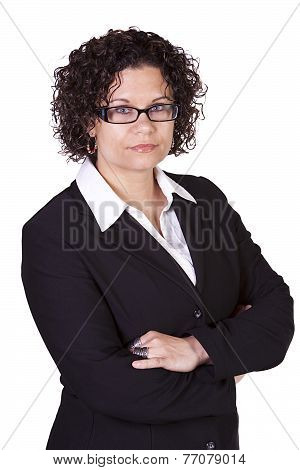 Cute Businesswoman With Her Arms Crossed