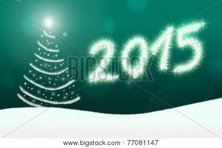Happy New Year 2015 Sparkling Lights
