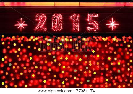 New Year 2015 lights at night