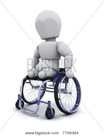 Amputee In Wheelchair