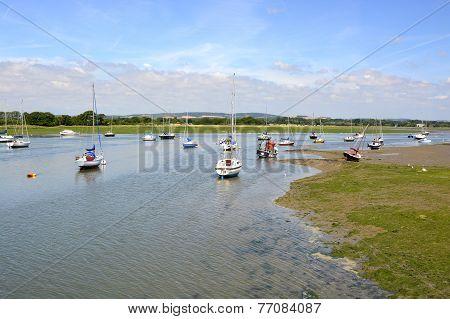 Boats At Bosham. Sussex. England